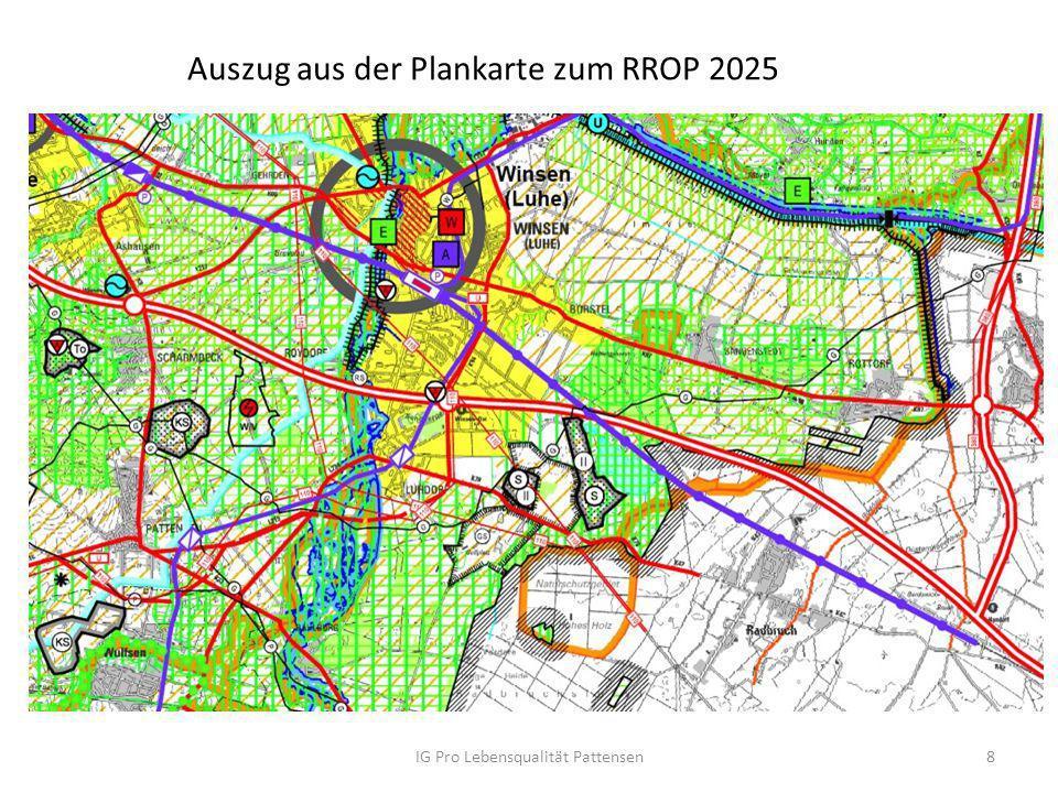 Auszug aus der Plankarte zum RROP 2025