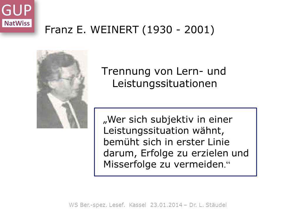 WS Ber.-spez. Lesef. Kassel 23.01.2014 – Dr. L. Stäudel