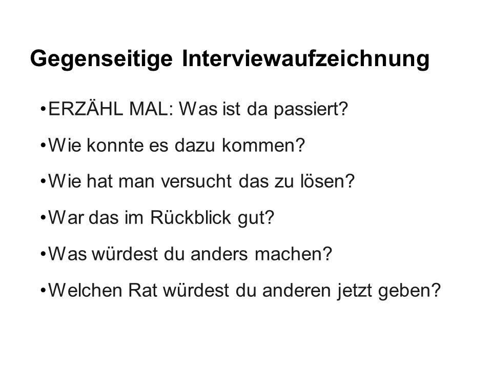 Gegenseitige Interviewaufzeichnung