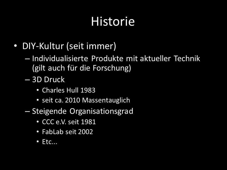 Historie DIY-Kultur (seit immer)