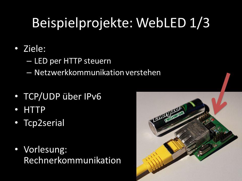 Beispielprojekte: WebLED 1/3