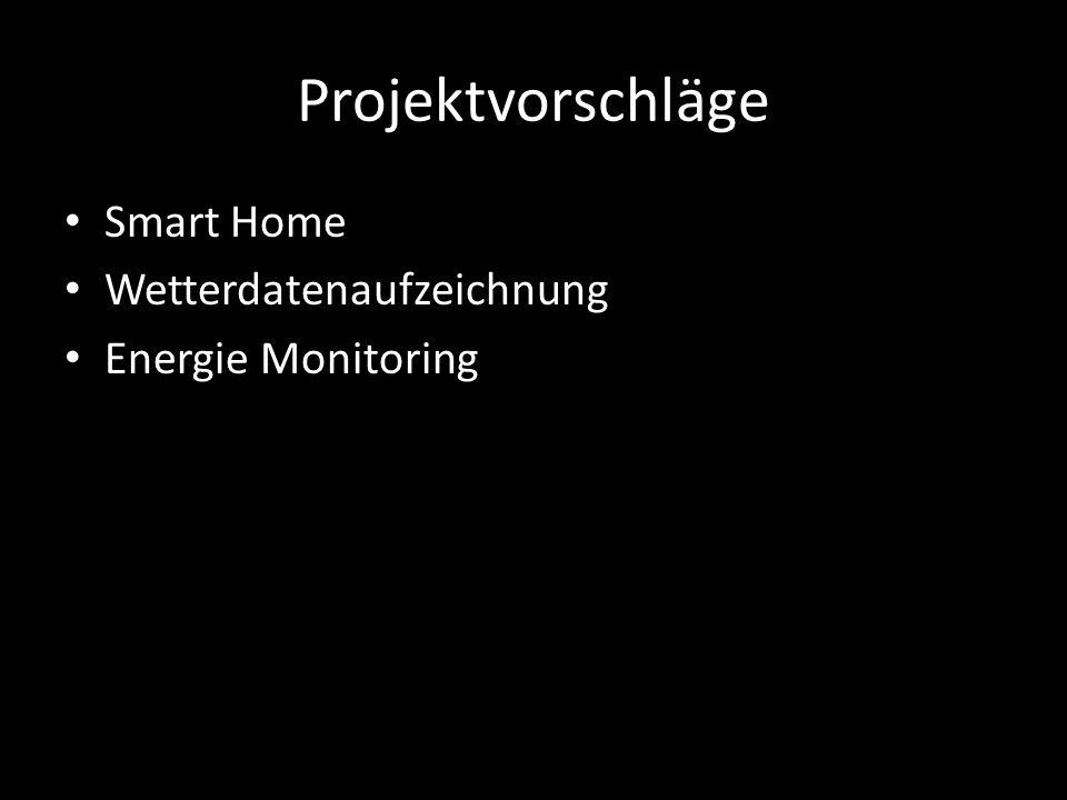 Projektvorschläge Smart Home Wetterdatenaufzeichnung