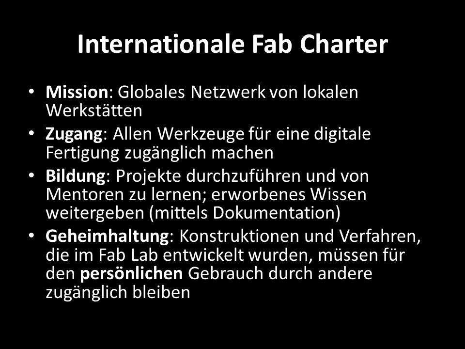 Internationale Fab Charter