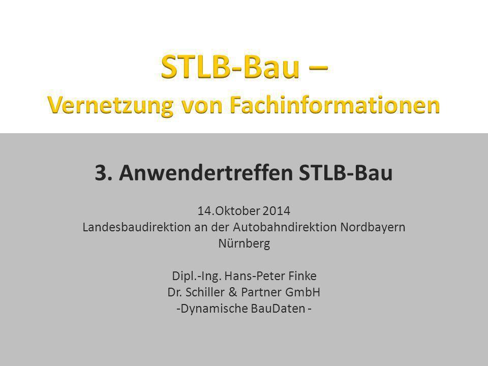STLB-Bau – Vernetzung von Fachinformationen