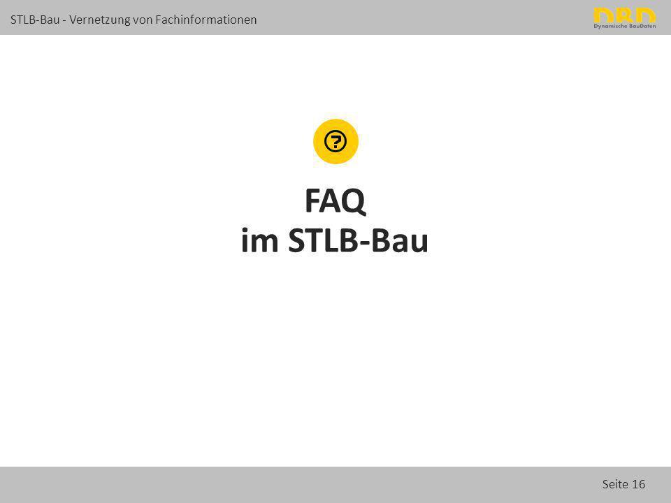 FAQ im STLB-Bau