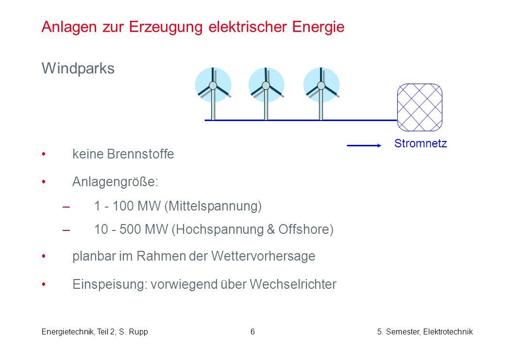 Anlagen zur Erzeugung elektrischer Energie