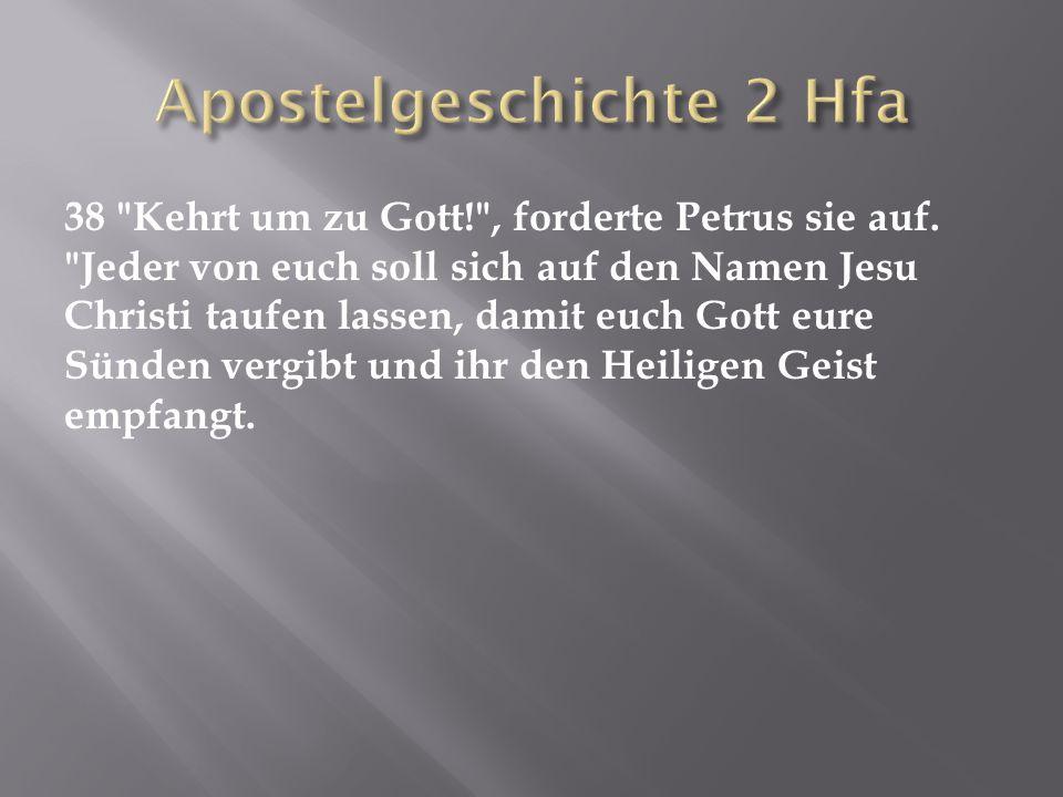 Apostelgeschichte 2 Hfa