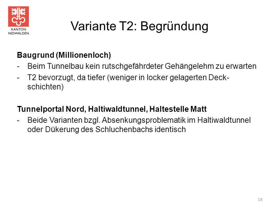 Variante T2: Begründung