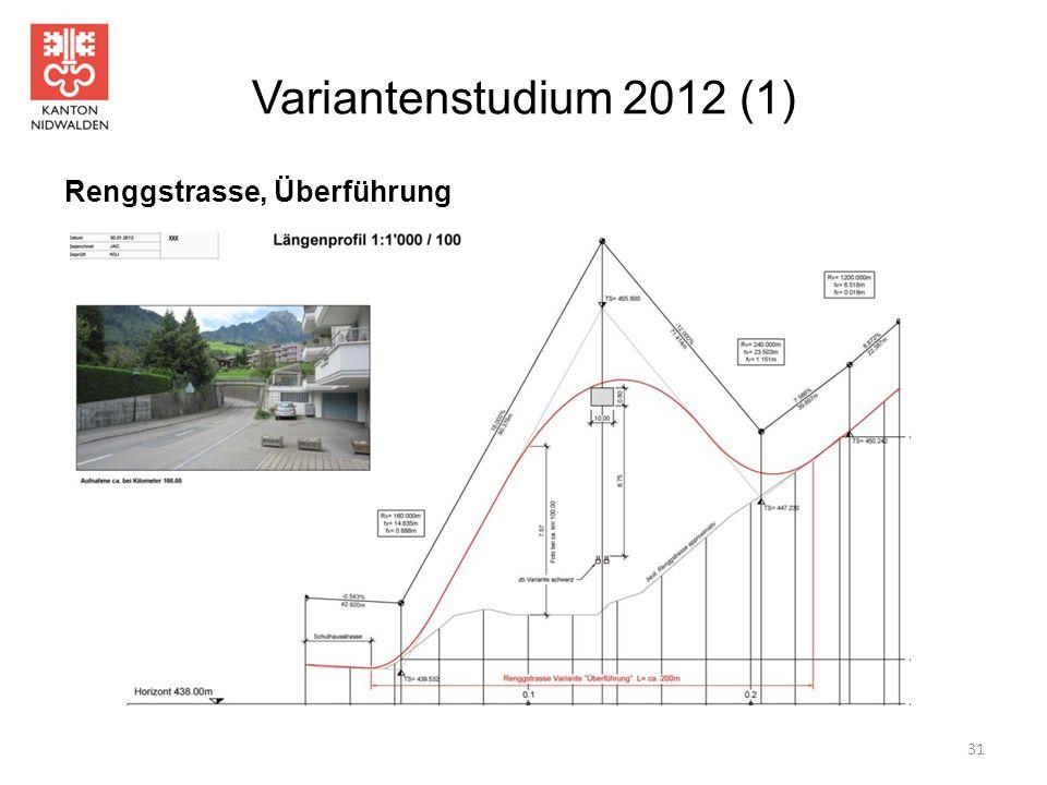 Variantenstudium 2012 (1) Renggstrasse, Überführung