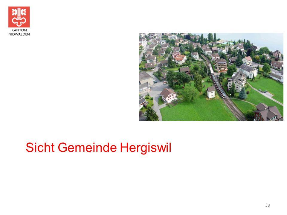 Sicht Gemeinde Hergiswil