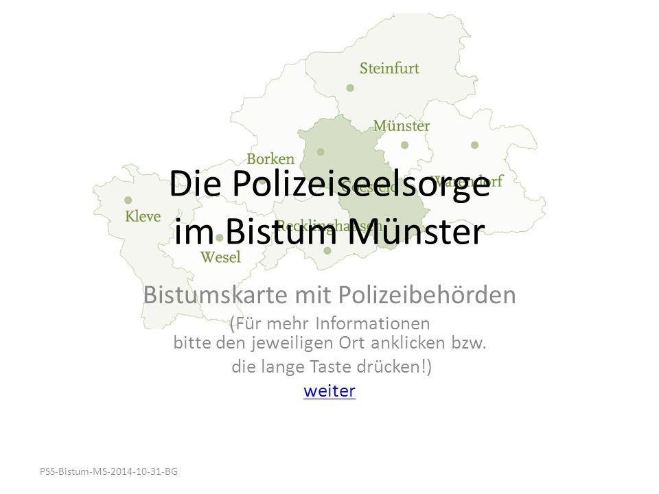 Die Polizeiseelsorge im Bistum Münster