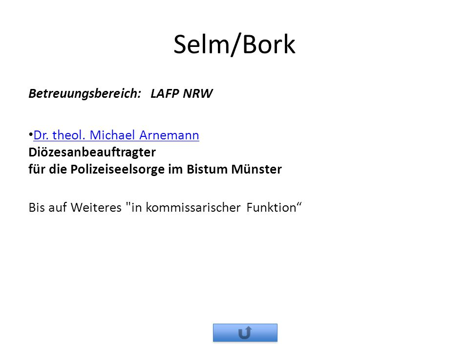 Selm/Bork Betreuungsbereich: LAFP NRW
