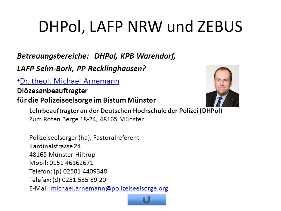 DHPol, LAFP NRW und ZEBUS