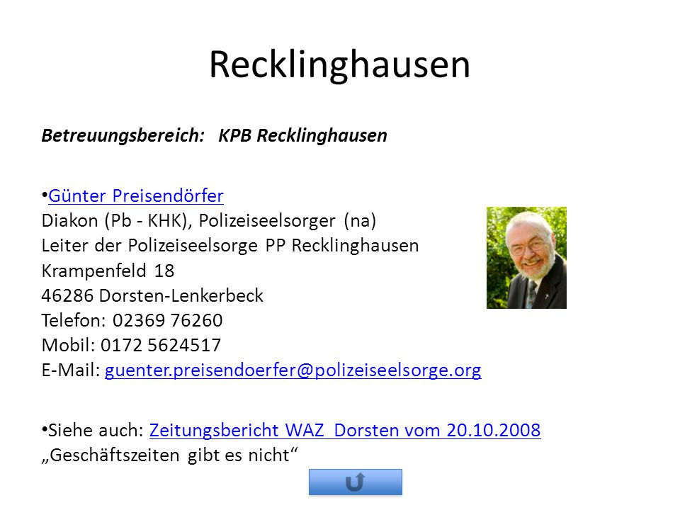 Recklinghausen Betreuungsbereich: KPB Recklinghausen