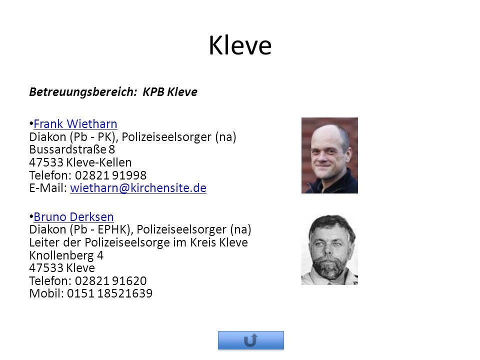 Kleve Betreuungsbereich: KPB Kleve