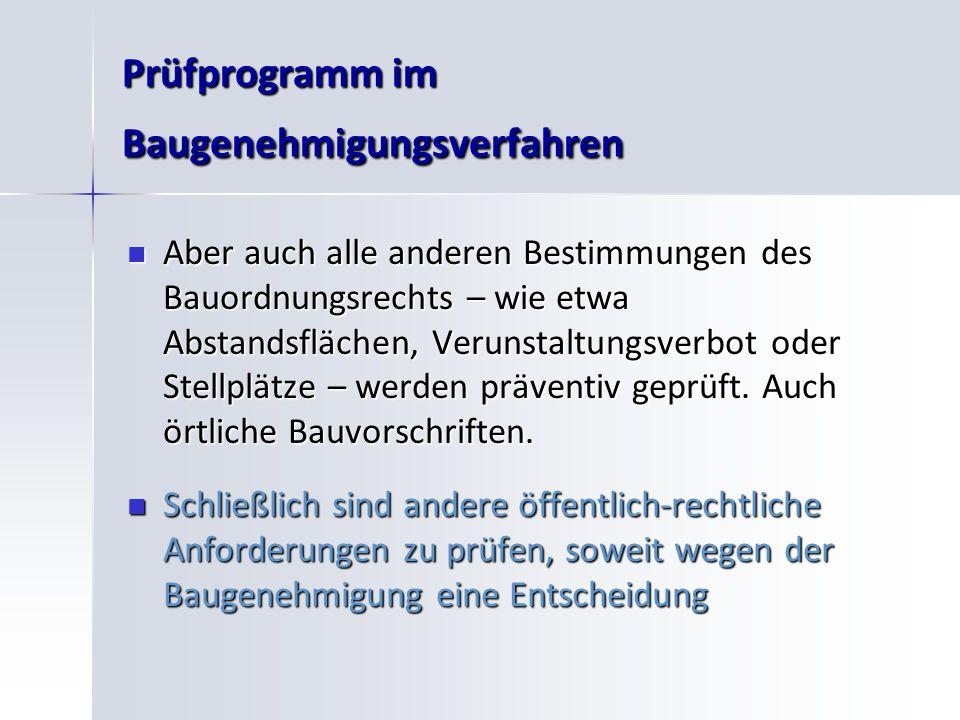 Prüfprogramm im Baugenehmigungsverfahren