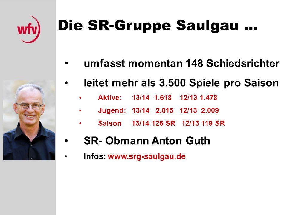 Die SR-Gruppe Saulgau ... umfasst momentan 148 Schiedsrichter