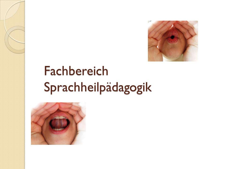 Fachbereich Sprachheilpädagogik