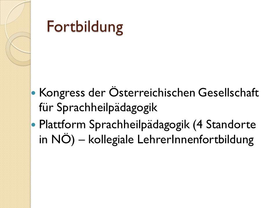 Fortbildung Kongress der Österreichischen Gesellschaft für Sprachheilpädagogik.