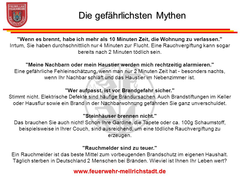 Die gefährlichsten Mythen