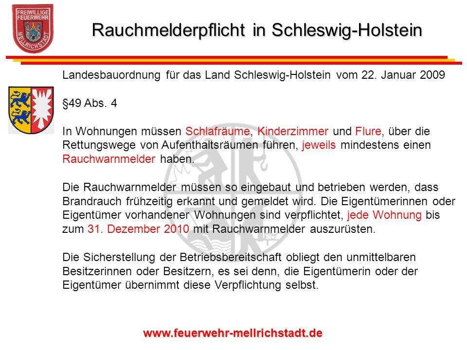 Rauchmelderpflicht in Schleswig-Holstein