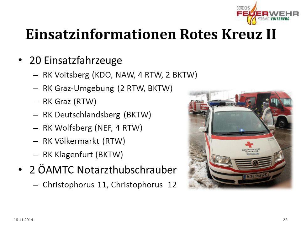 Einsatzinformationen Rotes Kreuz II