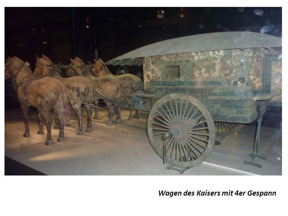 Wagen des Kaisers mit 4er Gespann