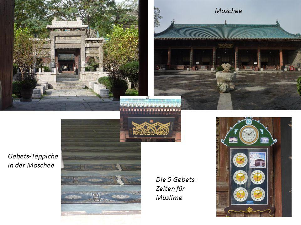 Moschee Gebets-Teppiche in der Moschee Die 5 Gebets-Zeiten für Muslime