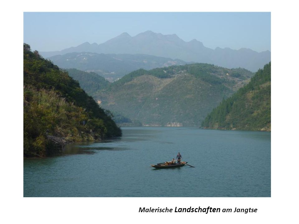Malerische Landschaften am Jangtse