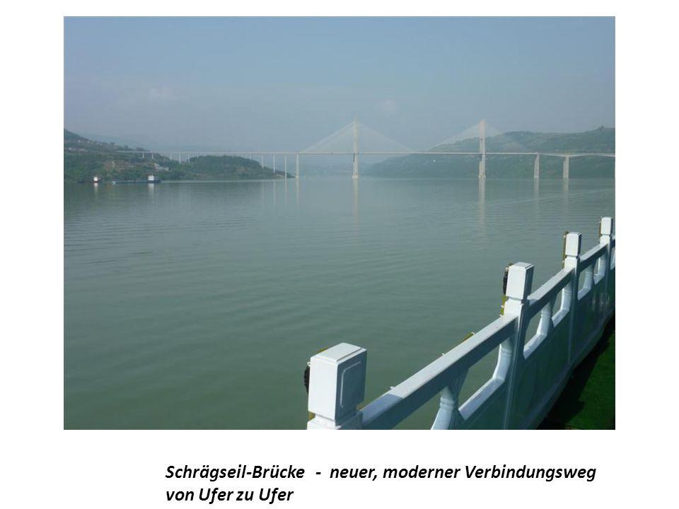 Schrägseil-Brücke - neuer, moderner Verbindungsweg