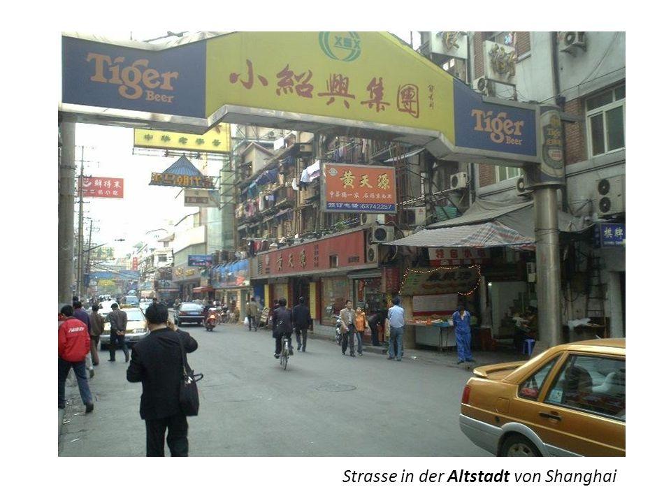 Strasse in der Altstadt von Shanghai