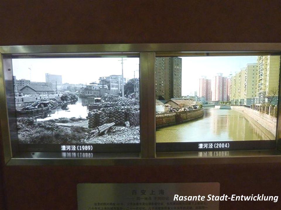 Rasante Stadt-Entwicklung