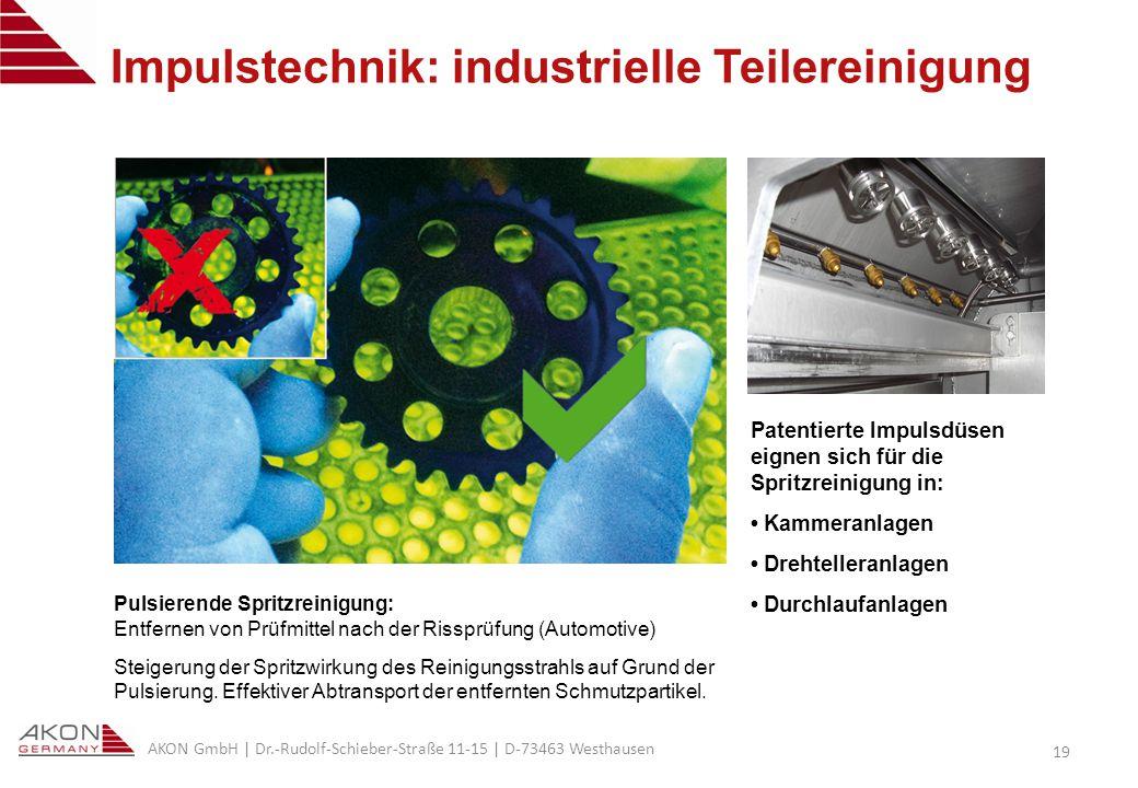 Impulstechnik: industrielle Teilereinigung
