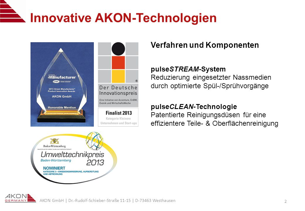 Innovative AKON-Technologien