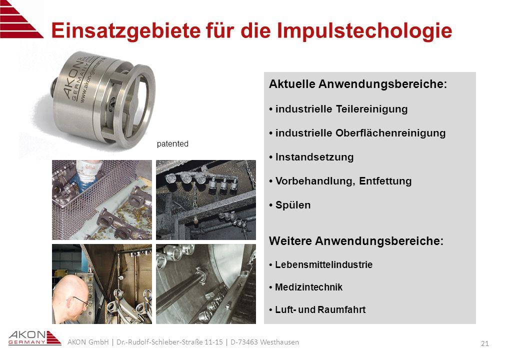 Einsatzgebiete für die Impulstechologie