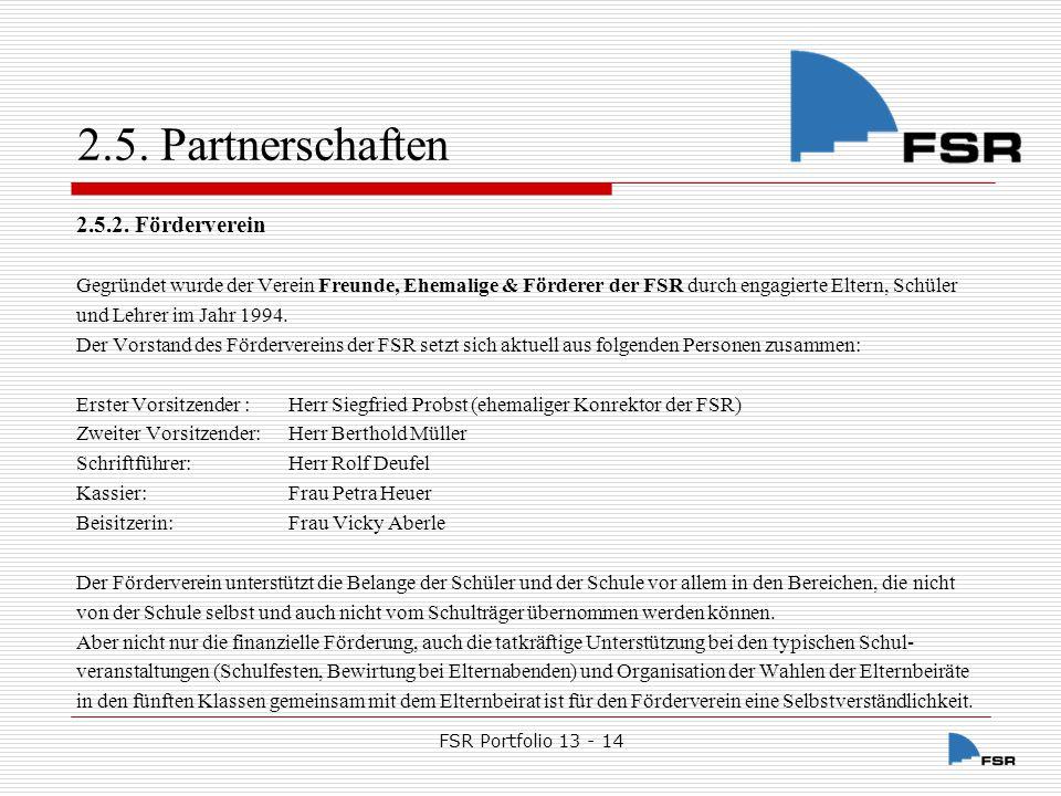 2.5. Partnerschaften 2.5.2. Förderverein