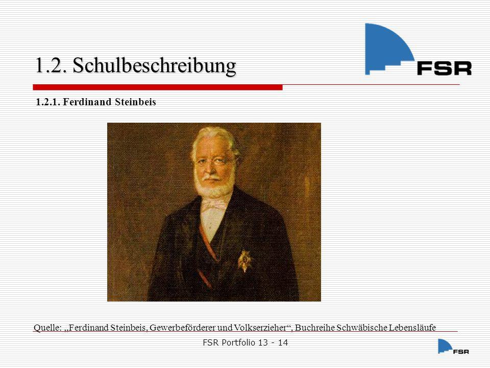 1.2. Schulbeschreibung 1.2.1. Ferdinand Steinbeis