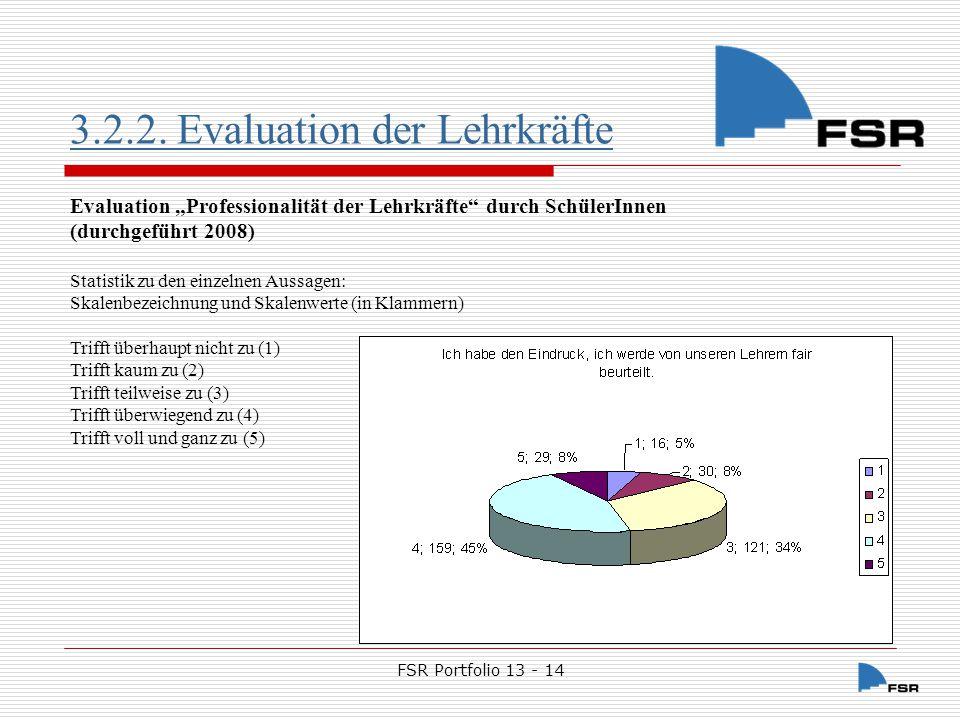3.2.2. Evaluation der Lehrkräfte