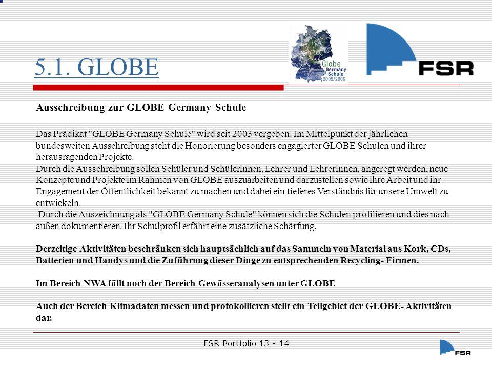 5.1. GLOBE Ausschreibung zur GLOBE Germany Schule