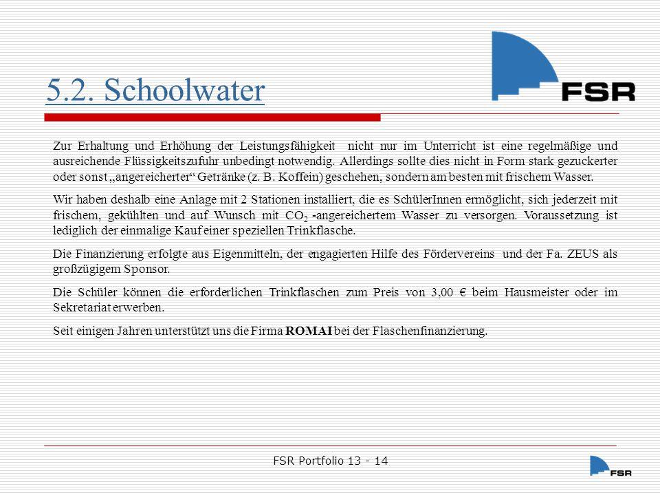 5.2. Schoolwater
