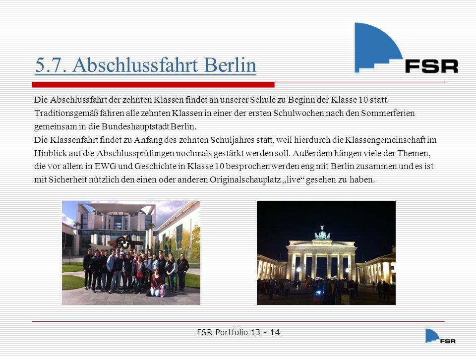 5.7. Abschlussfahrt Berlin