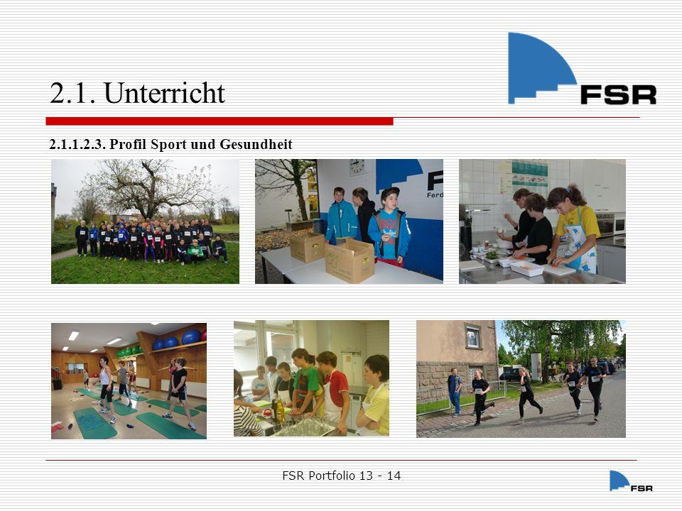 2.1. Unterricht 2.1.1.2.3. Profil Sport und Gesundheit