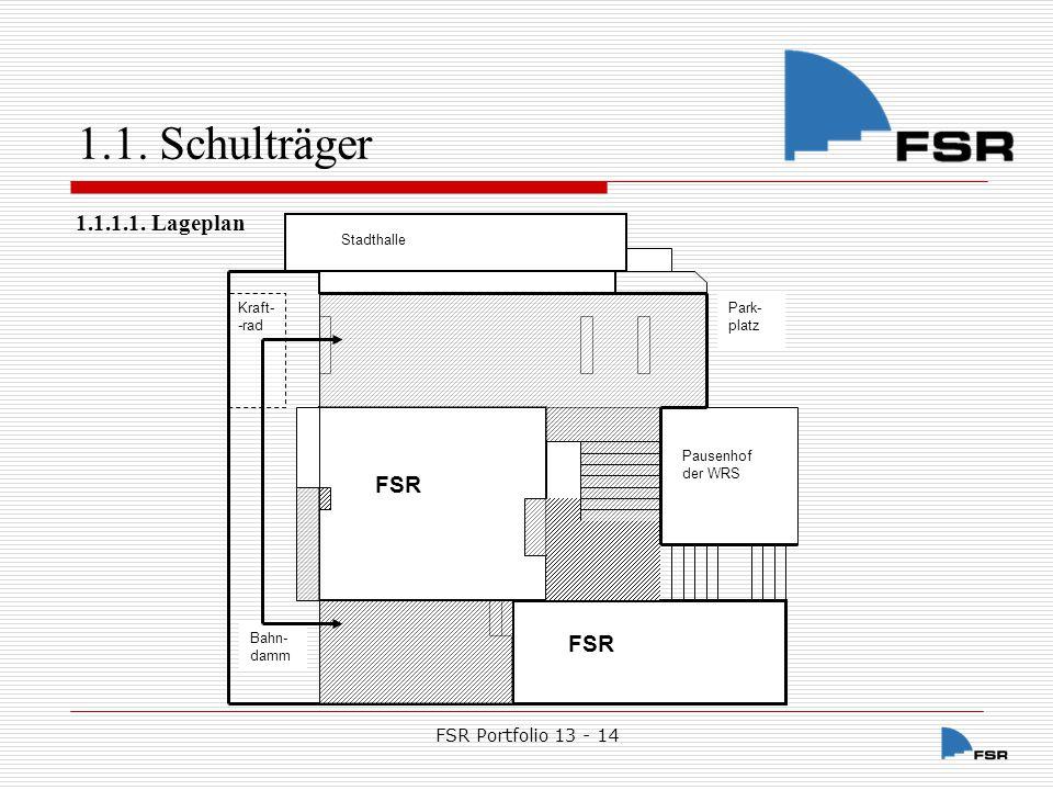 1.1. Schulträger 1.1.1.1. Lageplan FSR FSR Portfolio 13 - 14
