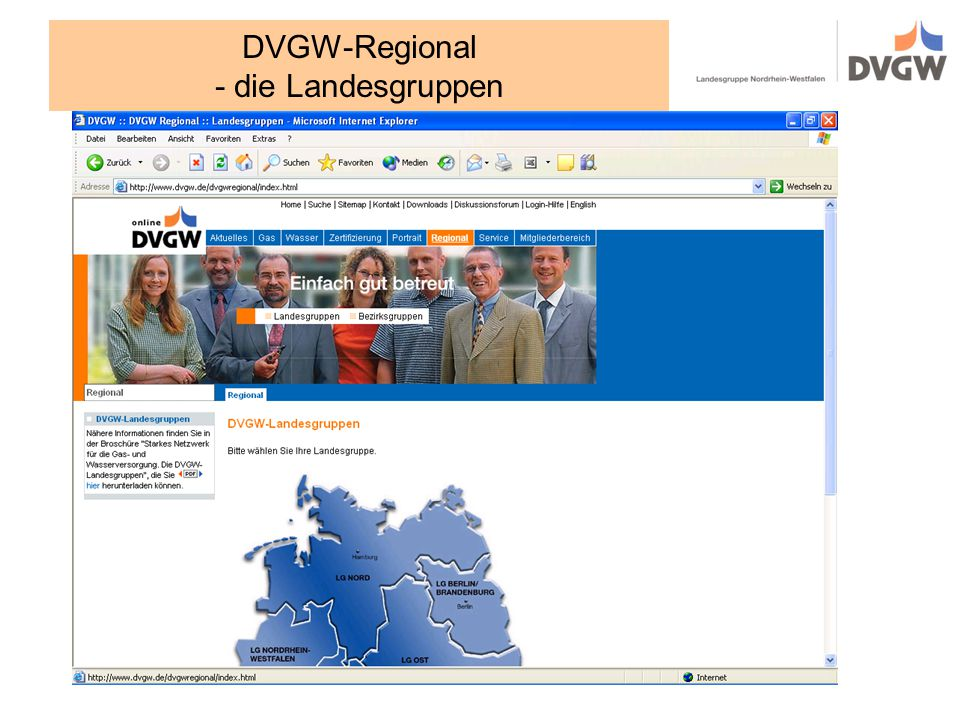 DVGW-Regional - die Landesgruppen