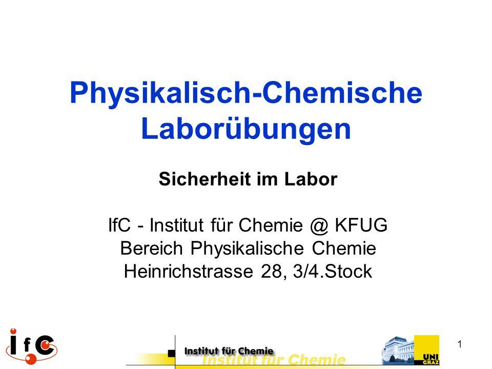 Physikalisch-Chemische Laborübungen