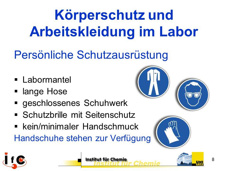 Körperschutz und Arbeitskleidung im Labor