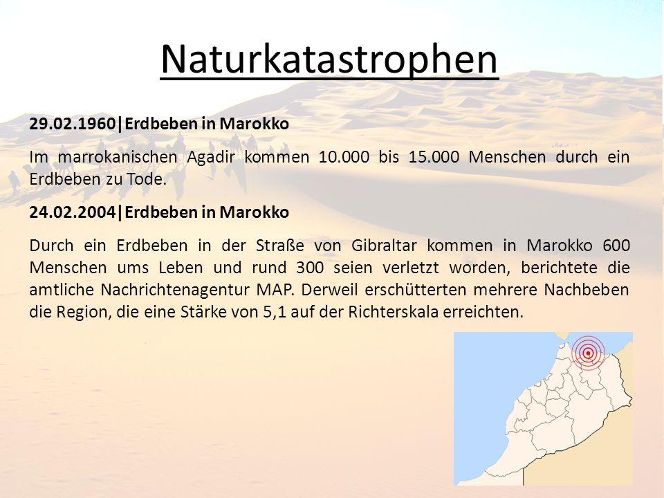 Naturkatastrophen 29.02.1960|Erdbeben in Marokko