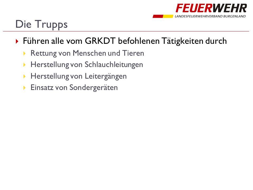 Die Trupps Führen alle vom GRKDT befohlenen Tätigkeiten durch