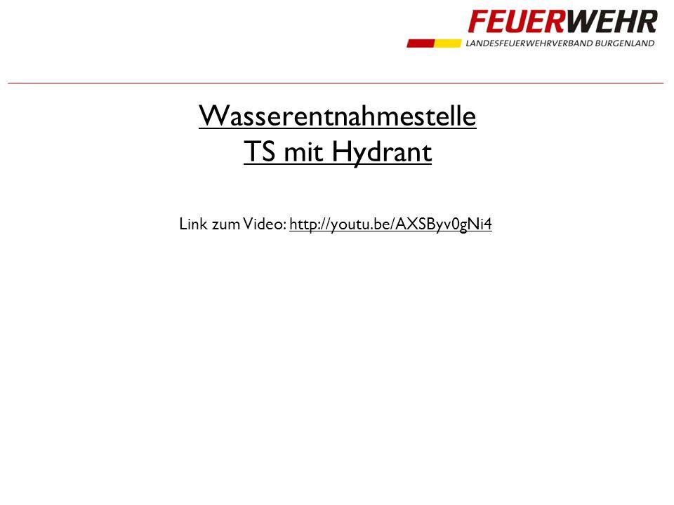 Wasserentnahmestelle TS mit Hydrant