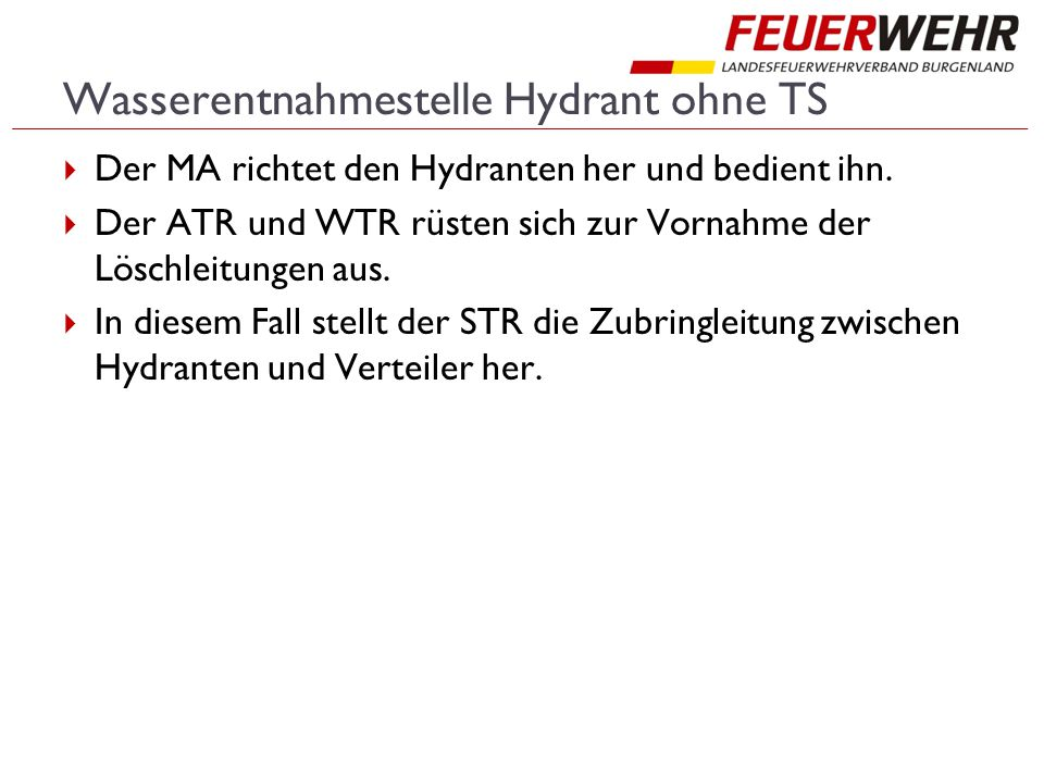 Wasserentnahmestelle Hydrant ohne TS